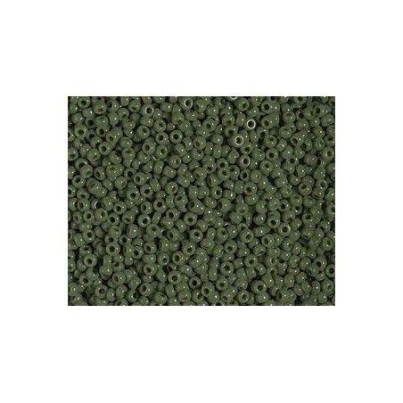 Seed beads 11/0 Miyuki 501 Opaque Avocado x12.50g