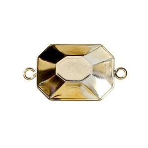 Stick-on support for rectangle cabochon 18x13mm GOLD COLOR x1