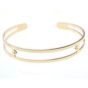 Support de bracelet à décorer 2 anneaux 9 x 60mm DORÉ x1