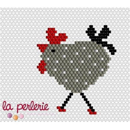 Ma poulette en Brick stitch