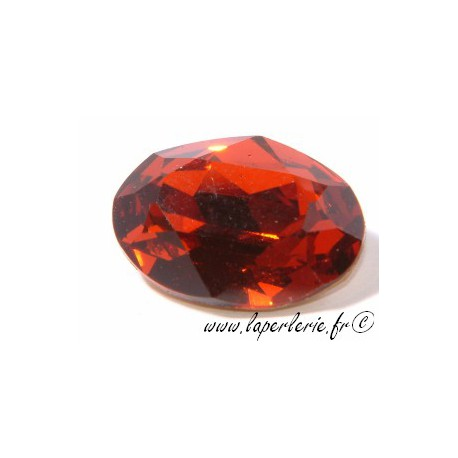Cabochon ovale 4120 18X13mm INDIAN RED