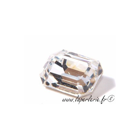 Cabochon rectangle 4610 10X14mm CRYSTAL
