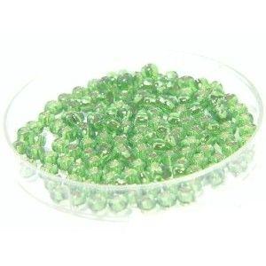 Rocaille 2mm Fern Green int. Argenté
