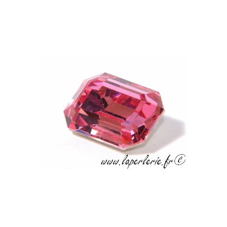 Cabochon rectangle 4610 10X14mm ROSE