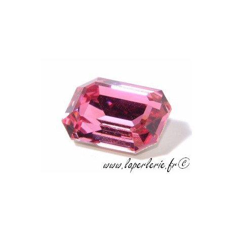 Cabochon rectangle 4610 13X18mm ROSE