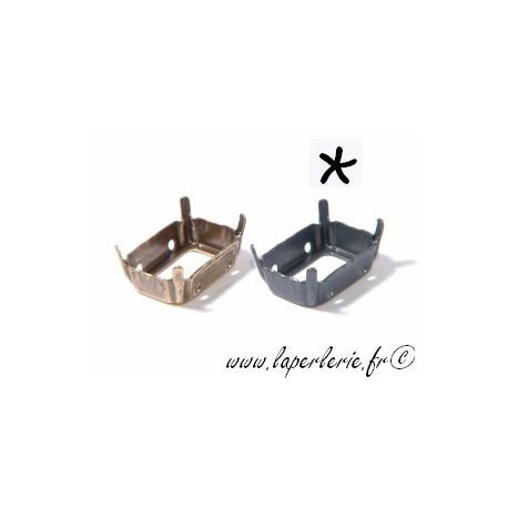 Griffe pour cabochon rectangle 13X18mm ETAIN