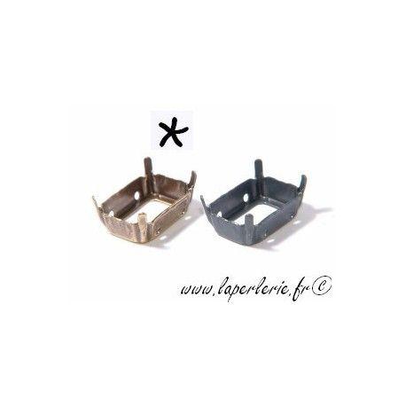 Griffe pour cabochon rectangle 13X18mm LAITON