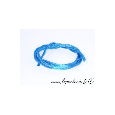 Lanière viscose 2mm CAPRI BLUE x2m