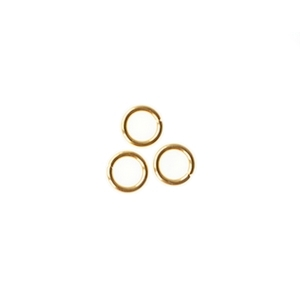Ring 5x0.8mm Stainless Steel GOLDEN x12