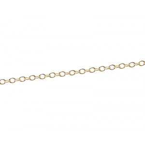 Serpentine Chain 0.7mm GOLD FILLED 14cts x20cm