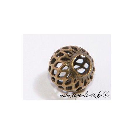 Boule filigranée 10mm LAITON