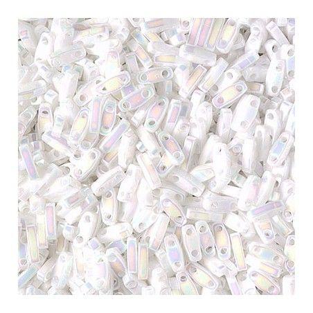 Quarter Tila Beads 471 White Pearl AB x 7.5g