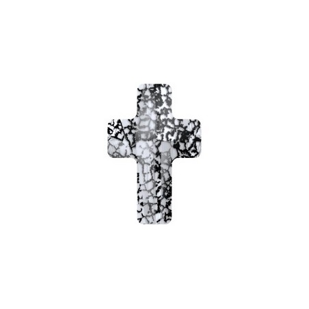 Cross bead 5378 14mm CRYSTAL BLACK PATINA