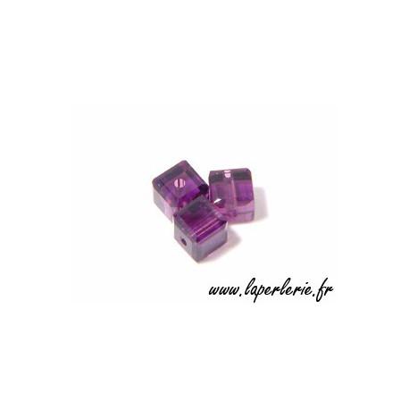Cube 5601 4mm AMETHYST x8