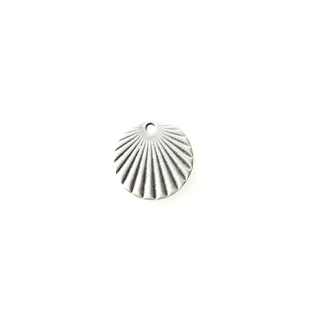 Charm Sunbeam 15.70mm OLD SILVER COLOR x1