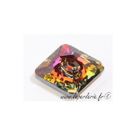 Square button 3017 16mm CRYSTAL VOLCANO