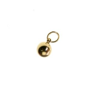 Charm ball 6mm welded ring Gold Filled 14 kts  x1