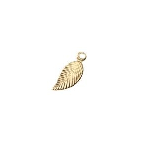 Leaf charm 5 x 12 mm GOLD FILLED 14cts x1