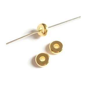 Rondelle  6 x 2mm GOLD COLOR x 10