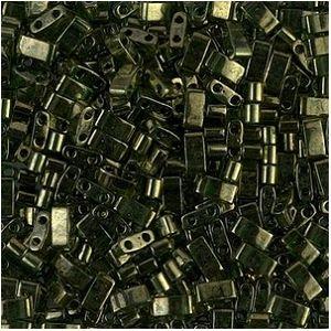 Half Tila 306 Olive Green Gold Luster x 7.5g