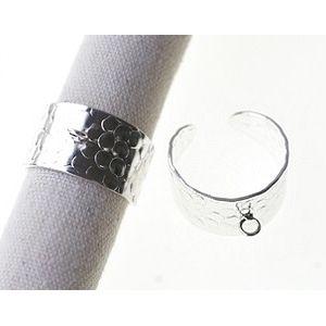 Sterling silver martelé 1 ring SILVER 925