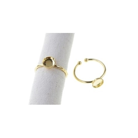 Sterling silver serrated pad 7.5mm GOLD PLATED