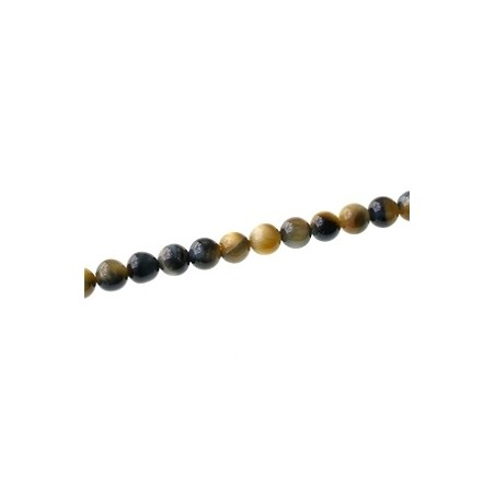 Round 8mm Gold and Blue tiger eyes x1 strand of 40cm