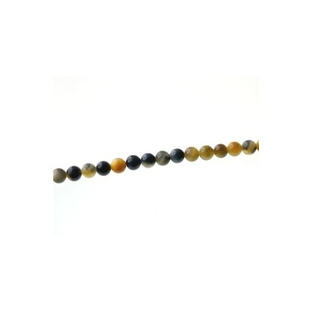 Round 6mm Gold and Blue tiger eyes x1 strand of 40cm