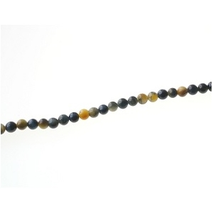 Round 4.5mm Gold and Blue tiger eyes x1 strand of 40cm