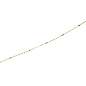Satelite chain 1mm + bead 1.90mm GOLD FILLED 14cts x20cm