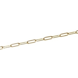 Rectangular Link Chain 3.10 x 8.7mm GOLD FILLED 14cts x 10cm