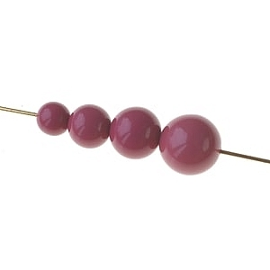 Set of beads for POP earrings LILAC OPAQUE