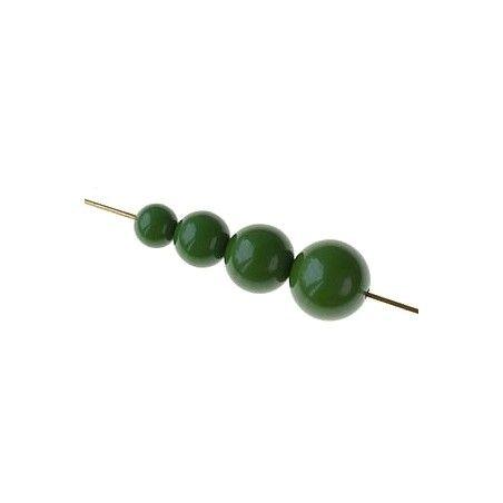 Set of beads for POP earrings  FERN GREEN