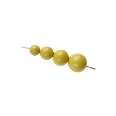 Set of beads for POP earrings MUSTARD