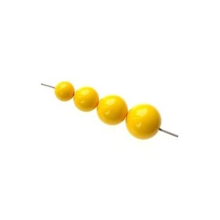 Set of beads for POP earrings GOLDEN YELLOW