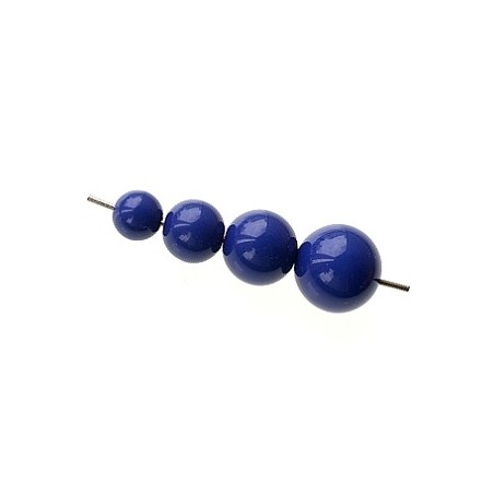 Set of beads for POP earrings NAVY BLUE