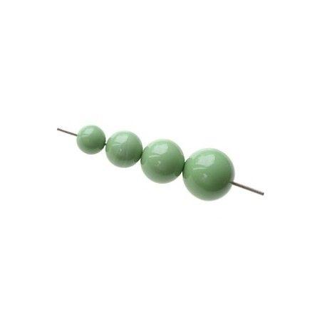 Set of beads for POP earrings JADE GREEN