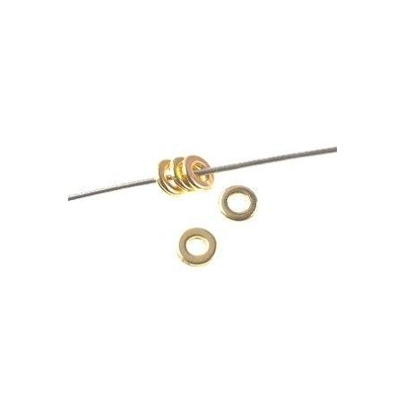 Rondelle zamac 6 x 1.1mm GOLD COLOR x 10