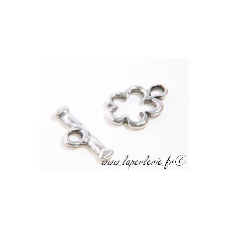 Flower toggle 16mm SILVER COLOR