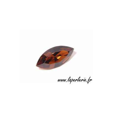 Navette cabochon 4200 15x7mm SMOKED TOPAZ