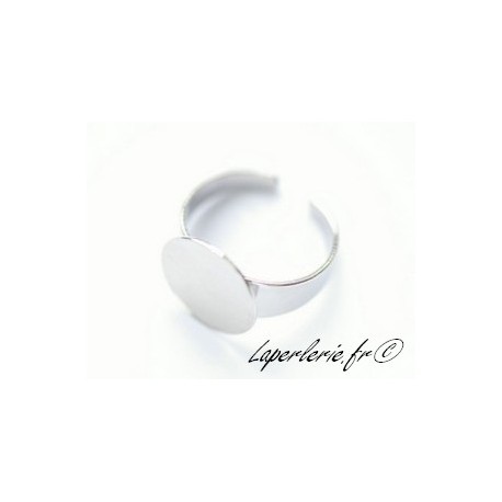Ring with plate 15mm SILVER COLOR