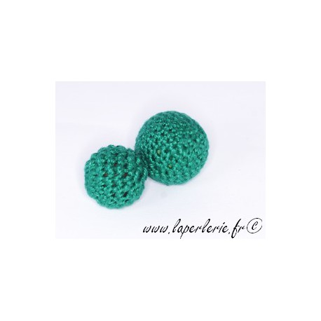 Perle crochet 15mm EMERALD x6
