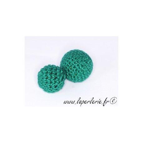 Perle crochet 15mm EMERALD x6