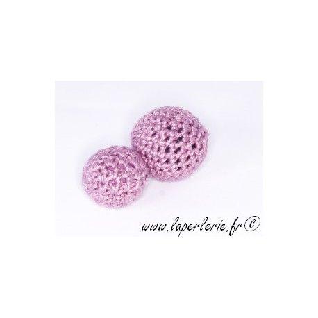 Perle crochet 25mm LILAS x6
