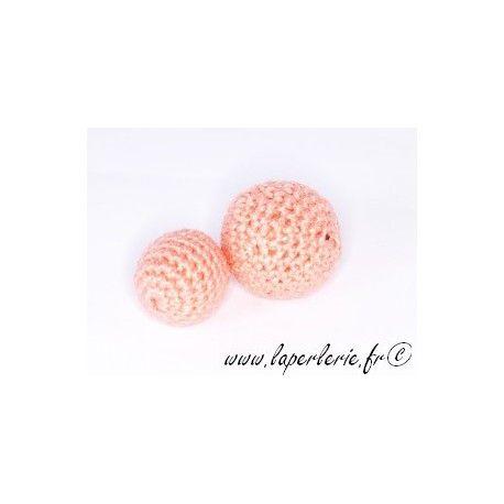 Perle crochet 25mm PEACH x6