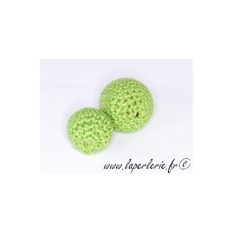 Perle crochet 15mm PERIDOT x6