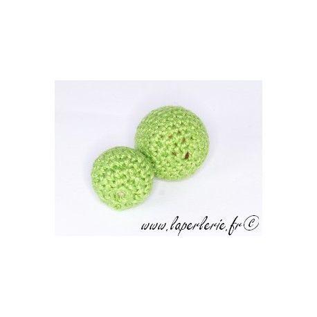 Perle crochet 25mm PERIDOT x6