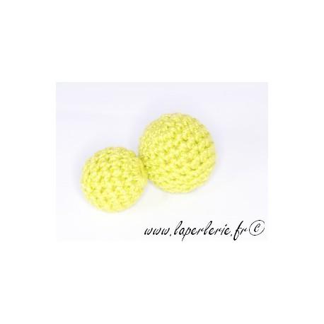 Perle crochet 15mm VERT ANIS x6