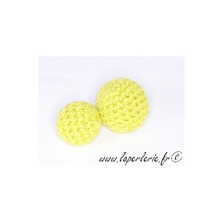 Perle crochet 25mm VERT ANIS x6