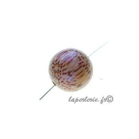 Perle en bois de palmier ronde 15mm x10